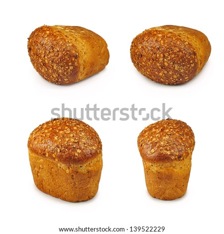 isolated image of bread on a white background
