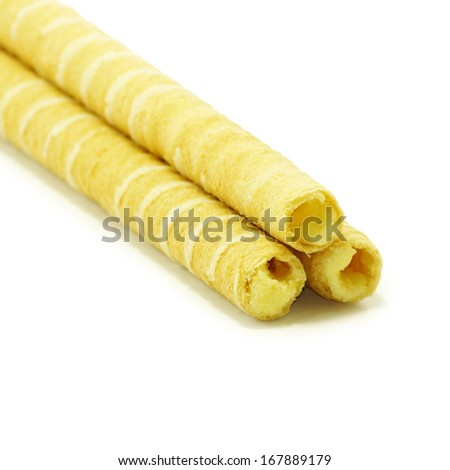 Isolated image of cookies on white background
