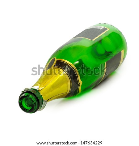 Isolated image of  empty bottle on a white background
