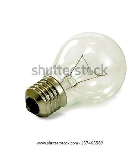 isolated image of  light bulb  on a white background - stock photo