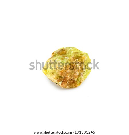 Isolated image of one opal stone on a white background closeup - stock photo
