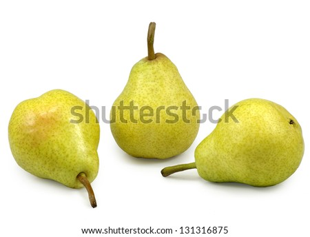 Isolated image of pears on a white background