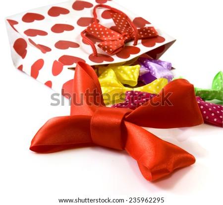 Isolated image of shopping bag closeup - stock photo