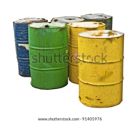 Isolated Industrial Barrels
