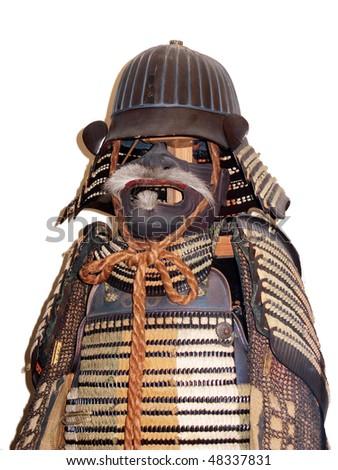 Isolated Japanese armor - stock photo