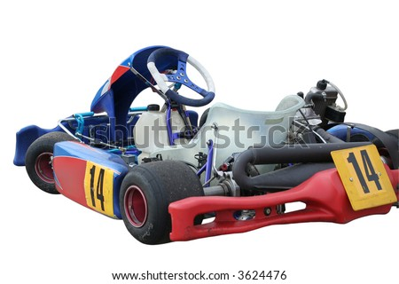 Isolated kart on white background