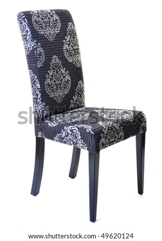 isolated kitchen chair furniture on white - stock photo
