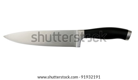 isolated knife on white background with clipping path