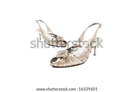 Isolated lady shoes - stock photo