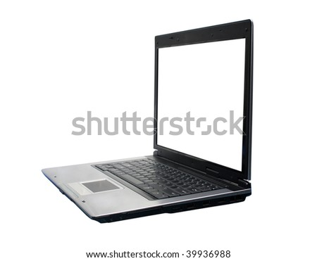 Isolated laptop