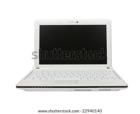 isolated laptop computer - stock photo