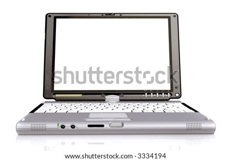 isolated laptop made in 3d over a white background