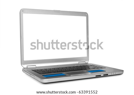 isolated laptop on a white background