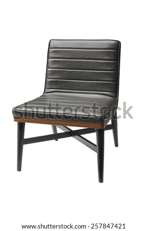 isolated leather chair on white background - stock photo