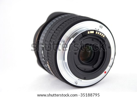 isolated lens, fish eye - stock photo