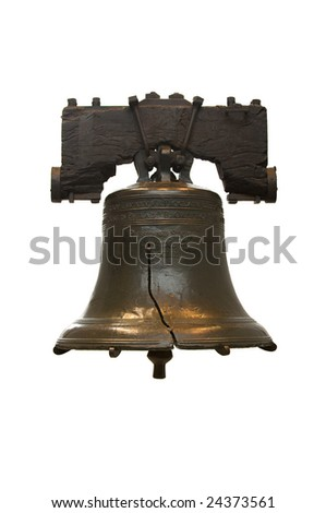 Isolated Liberty Bell in Philadelphia - stock photo
