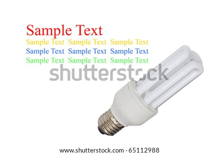 isolated light bulb on white background - stock photo