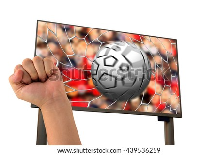 isolated Live football on smart tv.