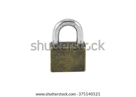 Isolated lock on white background with clipping path.