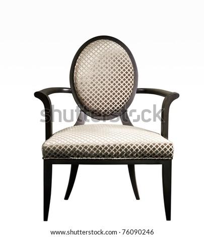Isolated: luxury arm chair on White background - stock photo