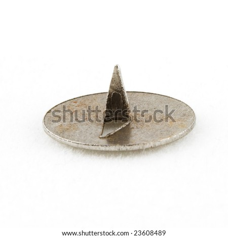 Isolated macro photo of some pushpin - stock photo