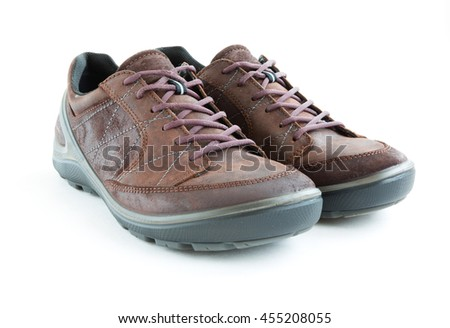 isolated male modern style jogging shoes - stock photo