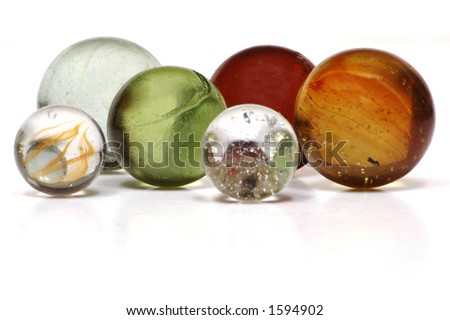 Isolated Marbles - stock photo