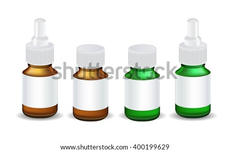 Isolated Medical Bottle Template Illustration