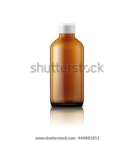 Isolated medicine bottle on white background. Empty medicine bottle for drugs, tablets, capsules. Jpeg version.