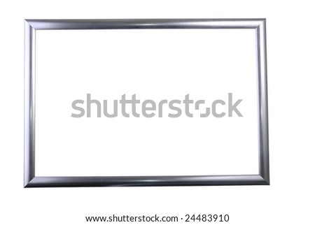 Isolated metal frame - stock photo