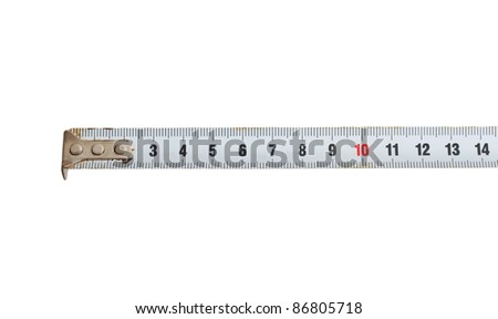 Isolated meter on white background