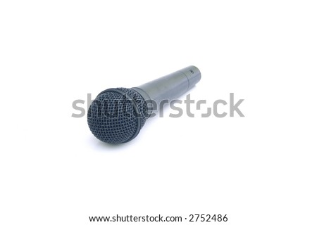 Isolated Mic - stock photo