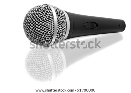 isolated microphone on a white background