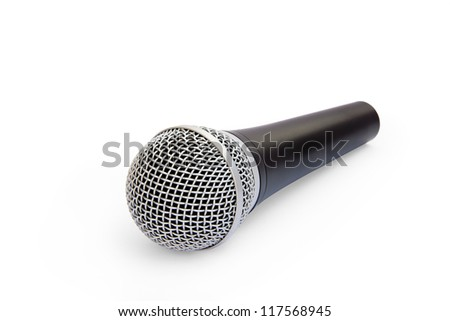 isolated microphone on a white backgrounds