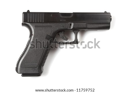 isolated 9mm pistol