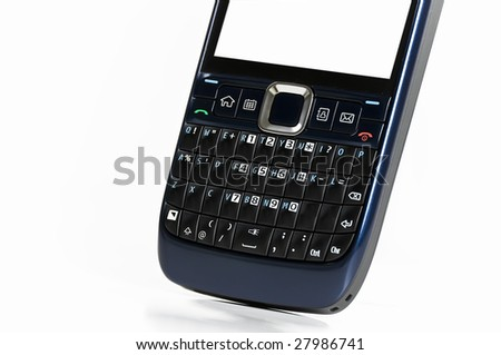 isolated mobile phone - stock photo