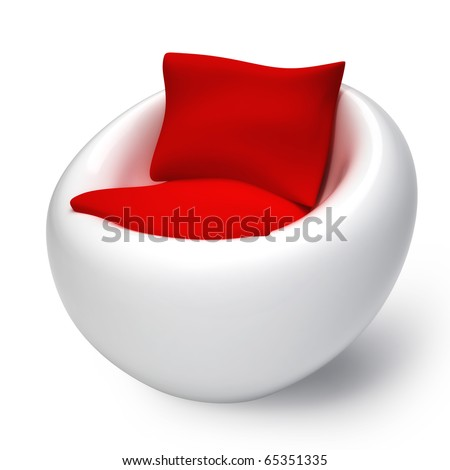Isolated modern furniture on white background