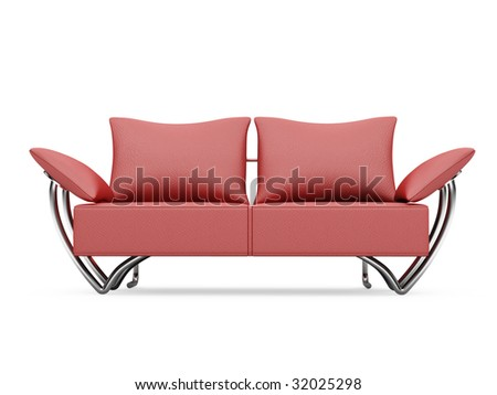 isolated modern sofa over white background
