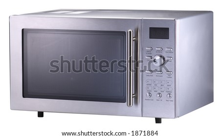 Isolated Modern Stainless Steel Microwave Oven1