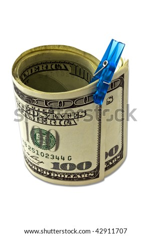 isolated money on a white background
