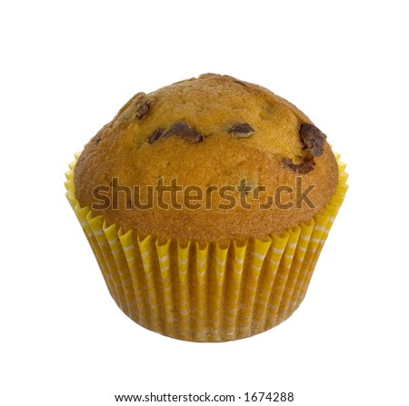 isolated muffin - stock photo