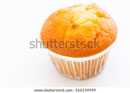 Isolated muffin on white background - stock photo