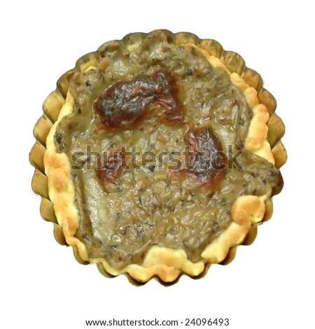 Isolated mushrooms pie