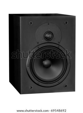 Isolated music object - loudspeaker - stock photo