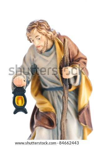 isolated nativity scene; Josef - stock photo