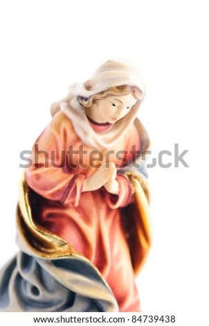isolated nativity scene; Mary - stock photo