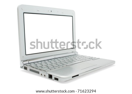 isolated netbook on a white background