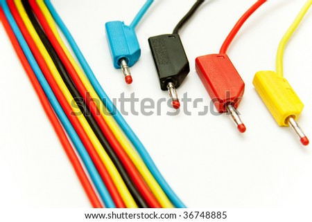 Isolated nice colored cables