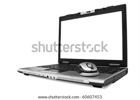 isolated notebook on a white background - stock photo