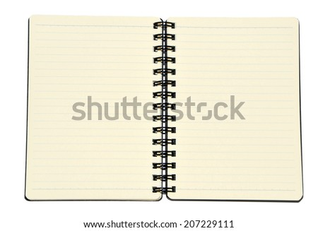 Isolated Notebook with Lines